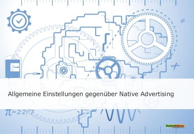 Allgemeine Einstellungen gegenüber Native Advertising