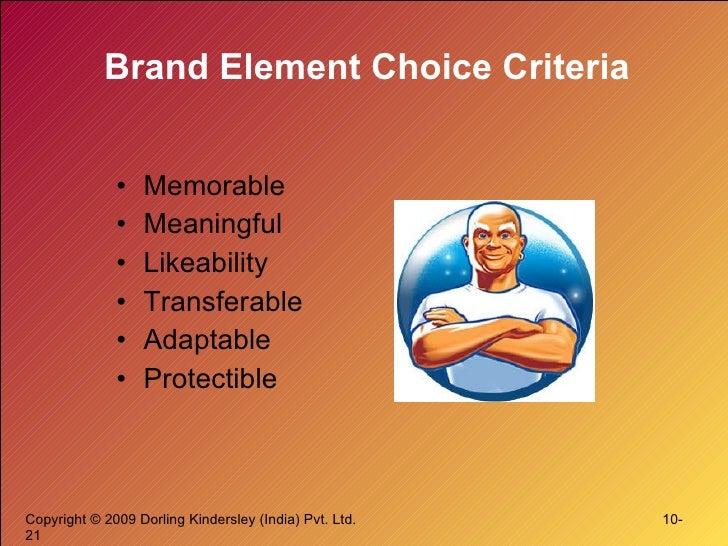 Brand Element Choice Criteria <ul><li>Memorable </li></ul><ul><li>Meaningful </li></ul><ul><li>Likeability </li></ul><ul><...