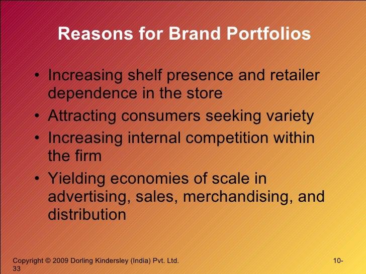 Reasons for Brand Portfolios <ul><li>Increasing shelf presence and retailer dependence in the store </li></ul><ul><li>Attr...