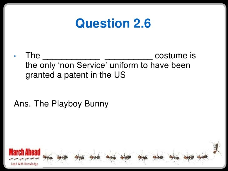 """Question 2.6      The ____________ __________ costume is •     the only """"non Service"""" uniform to have been     granted a p..."""