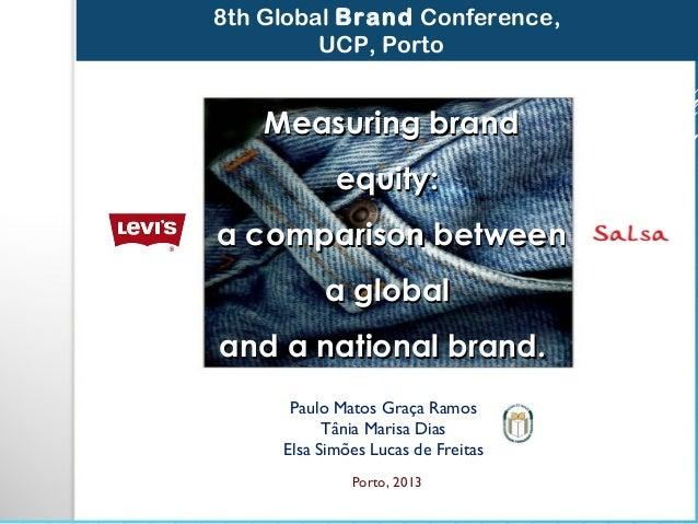 Paulo Matos Graça Ramos Tânia Marisa Dias Elsa Simões Lucas de Freitas Porto, 2013 8th Global Brand Conference, UCP, Porto...