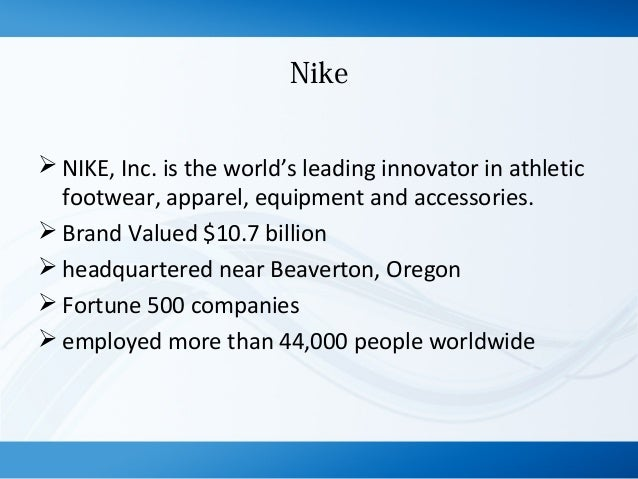nike brand extension Have a strong brand extension concept that appeals to consumers and offers a   originally a line of running shoes, nike-branded products now include.