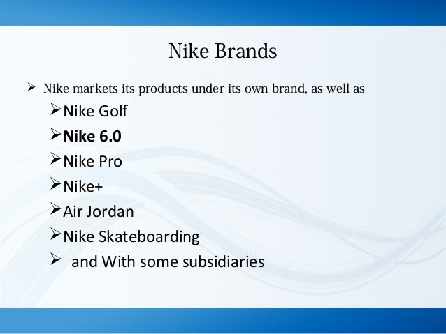 nike brand extension examples
