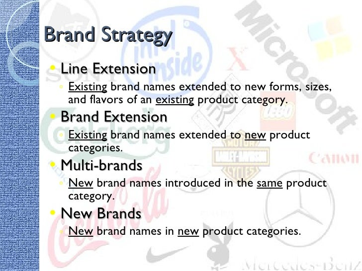product line extension and brand extension Sub branding and brand extension are both brand strengthening exercise sub branding is used when brand is entering in new market segment in the same product.