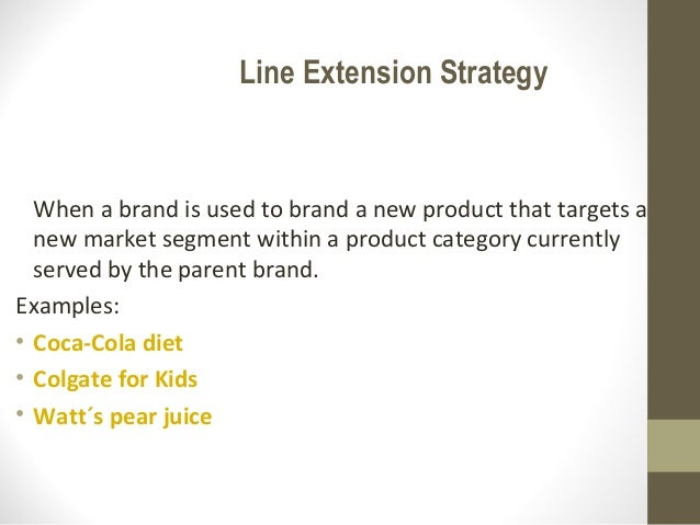 coca cola extension strategy Coca-cola was the first beverage brand to employ the industrial age  the  strategy of a new product, flavor or line extension coupled with.