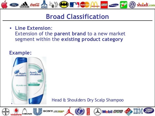 Broad Classification • Line Extension: Extension of the parent brand to a new market segment within the existing product c...