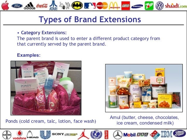 • Category Extensions: The parent brand is used to enter a different product category from that currently served by the pa...