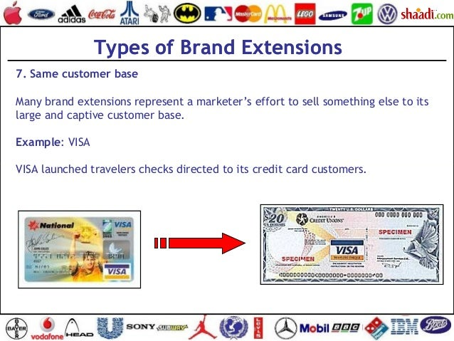Types of Brand Extensions 7. Same customer base Many brand extensions represent a marketer's effort to sell something else...