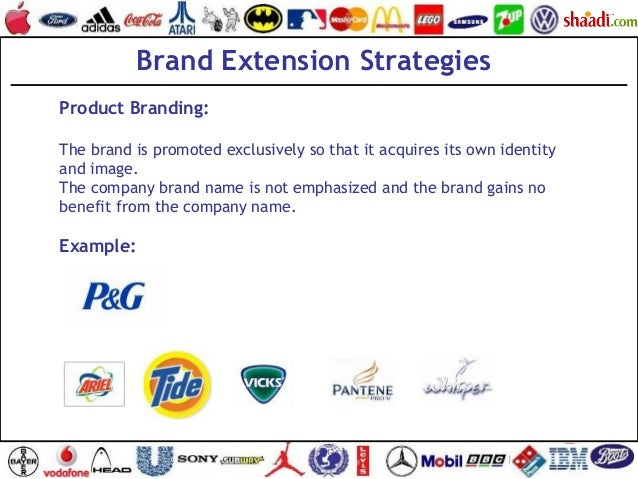 Brand Extension Strategies Product Branding: The brand is promoted exclusively so that it acquires its own identity and im...