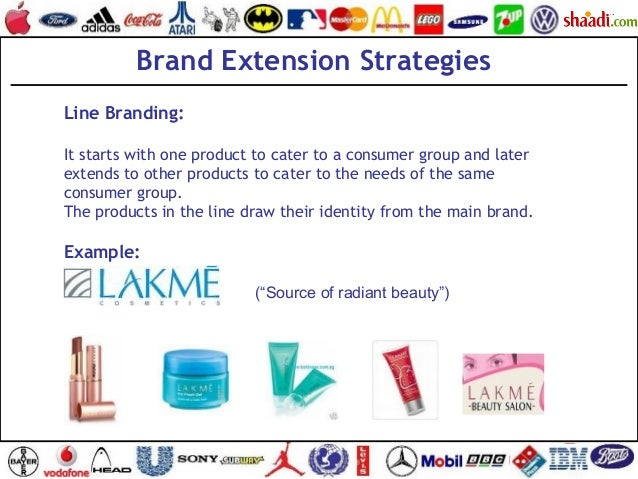 Brand Extension Strategies Line Branding: It starts with one product to cater to a consumer group and later extends to oth...
