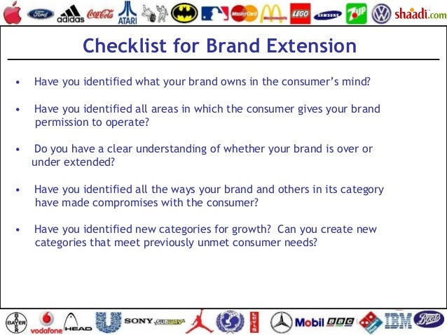 •  Have you identified what your brand owns in the consumer's mind? •  Have you identified all areas in which the cons...