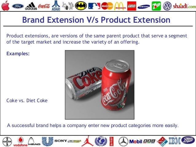 brand extension The use of brand extensions many companies try to capitalize on their valuable brands by introducing brand extensions, which are new products that are introduced under an existing brand name brand extensions come in two different forms: line extension – a line extension is a product that is introduced within the same.