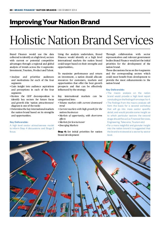 brand finance nation brands report 2014 Its annual report on nation brands placed the us top and china second brand britain was originally quoted as $24bn ( 146bn), brand usa as $18bn and china as $6bn in the brand finance report.