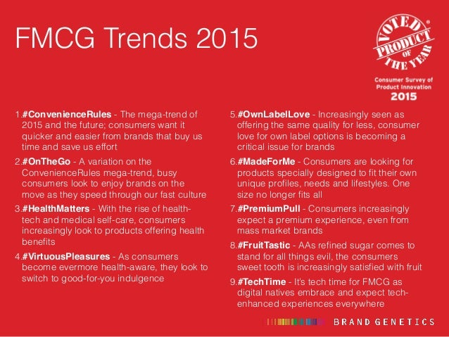 FMCG / CPG Consumer Trends 2015 - Product Innovations of the Year Slide 2