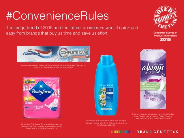 FMCG / CPG Consumer Trends 2015 - Product Innovations of the Year Slide 3