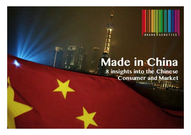 Made in China8 insights into the ChineseConsumer and Market