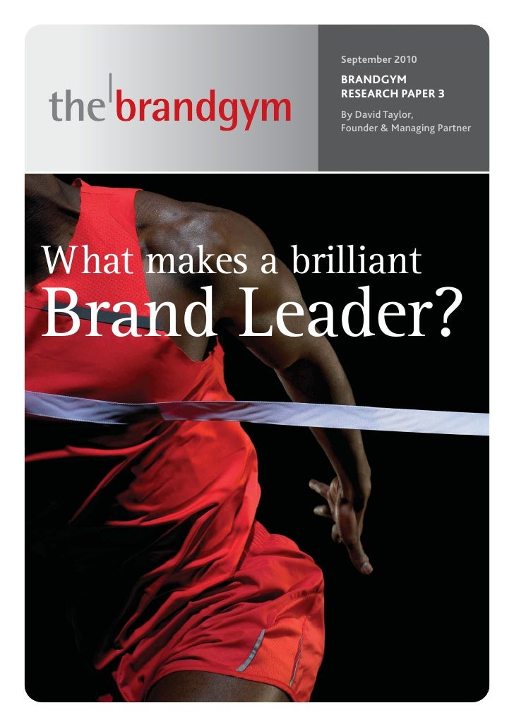 Brandgym Research Paper - Brand Leadership