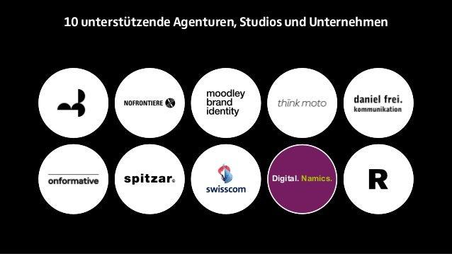 10 unterstützende Agenturen, Studios und Unternehmen  Digital. Namics.