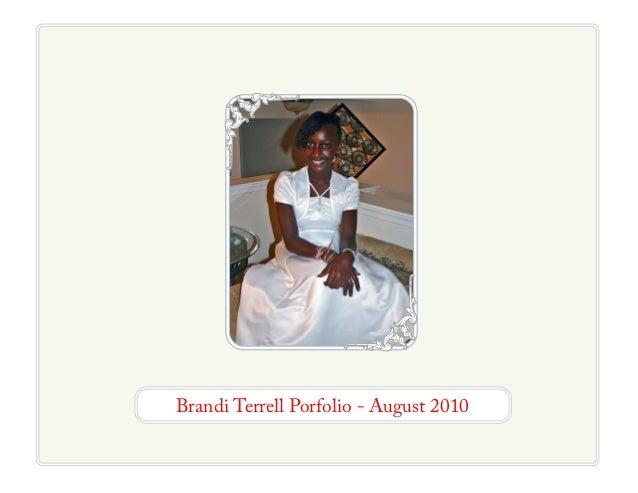 Brandi Terrell Porfolio - August 2010
