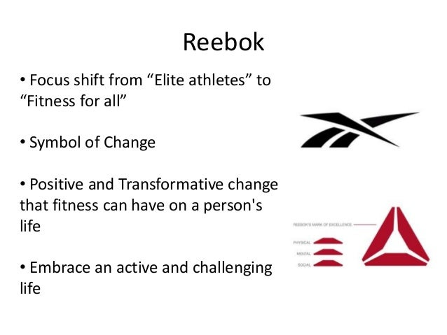 reebok brand personality Generally speaking, the reebok's main objectives are to increase the brand awareness, shape its brand personality, increase sales, increase market share and make reebok brand as visible as possible following are some evidence of their consistency:.
