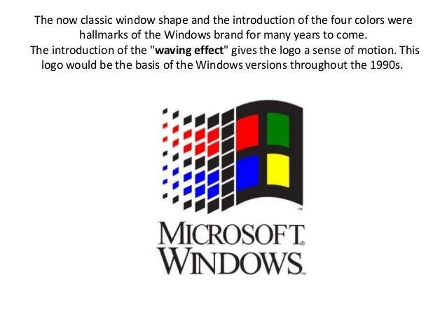 Logo Evolution Of Microsoft Windows And Reebok Over The Period Tim