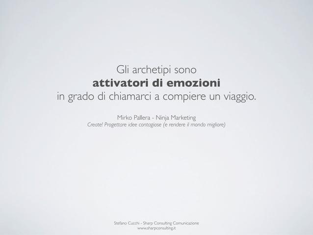 Gli archetipi sono        attivatori di emozioniin grado di chiamarci a compiere un viaggio.                   Mirko Palle...