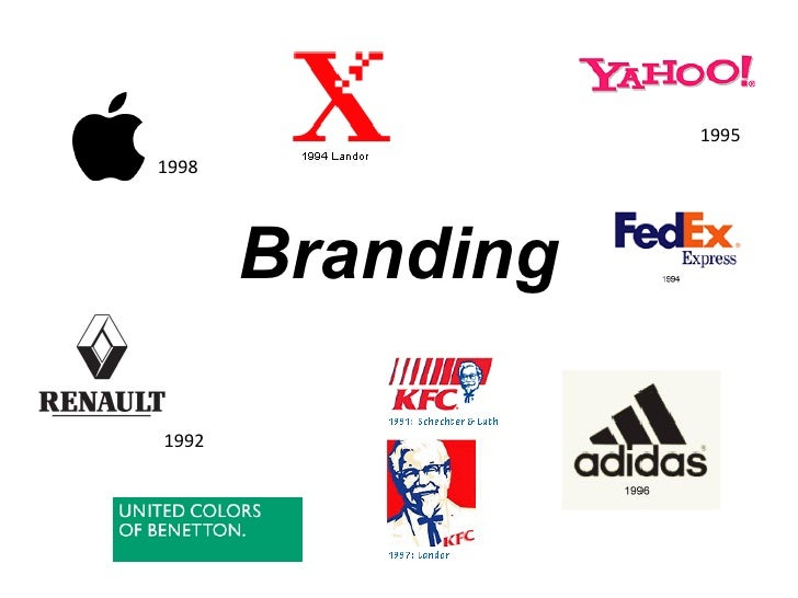 1998 1992 1995 Branding