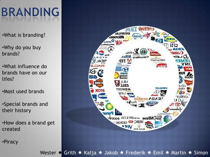 •What is branding?•Why do you buybrands?•What influence dobrands have on ourlifes?•Most used brands•Special brands andthei...