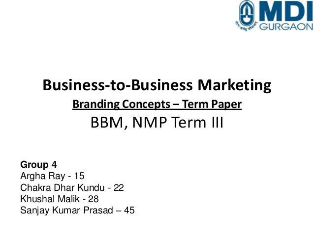 Term paper branding