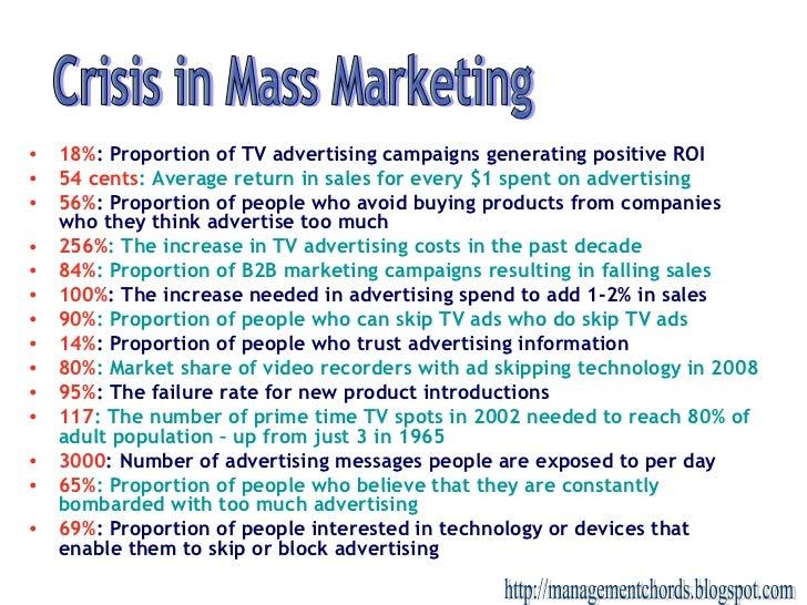 <ul><li>18% : Proportion of TV advertising campaigns generating positive ROI </li></ul><ul><li>54 cents : Average return i...
