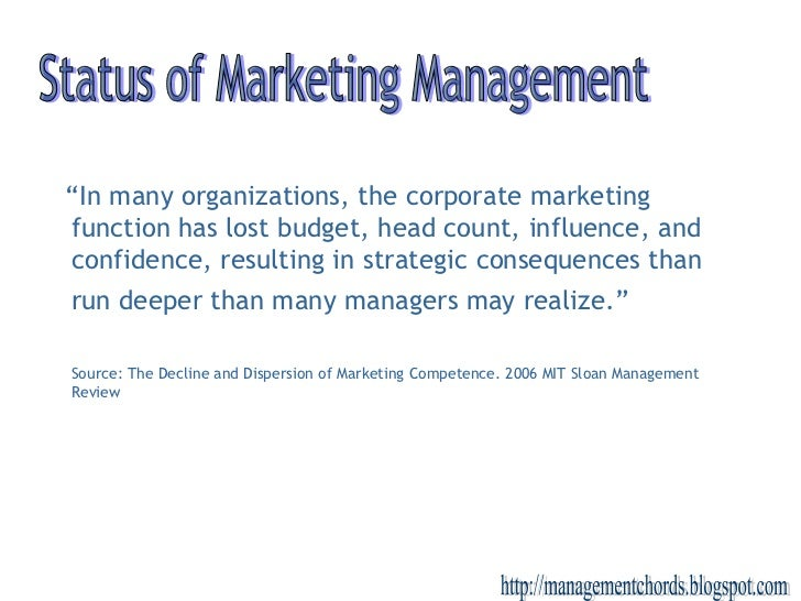 """ In many organizations, the corporate marketing function has lost budget, head count, influence, and confidence, resultin..."