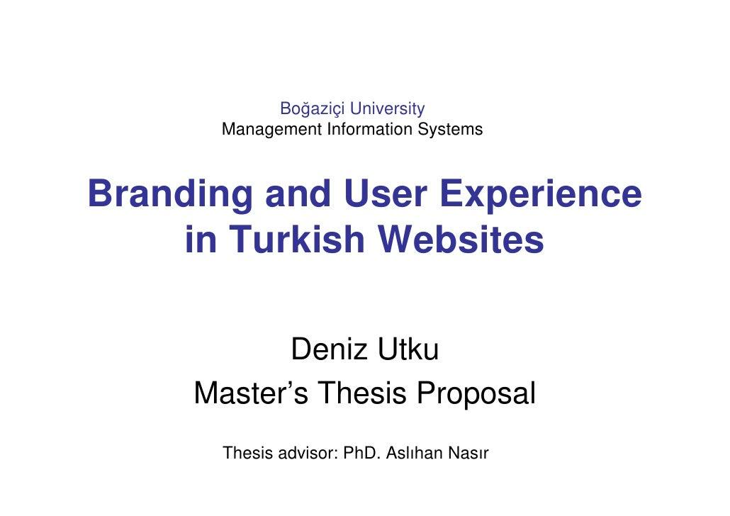 branding dissertation proposal