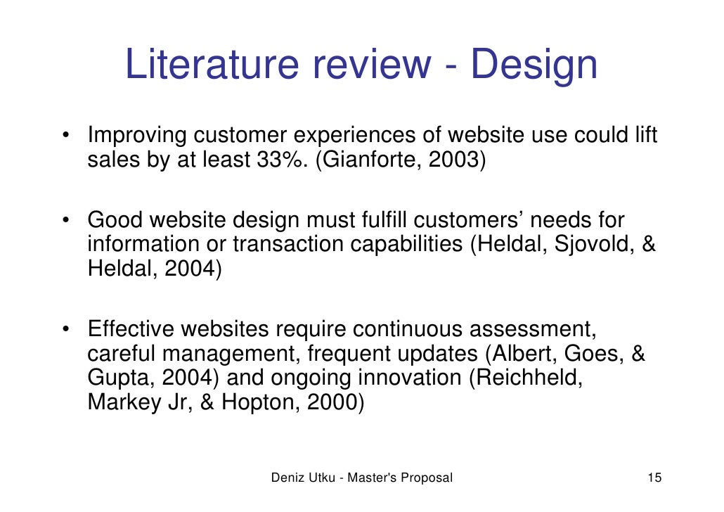 literature review on website design