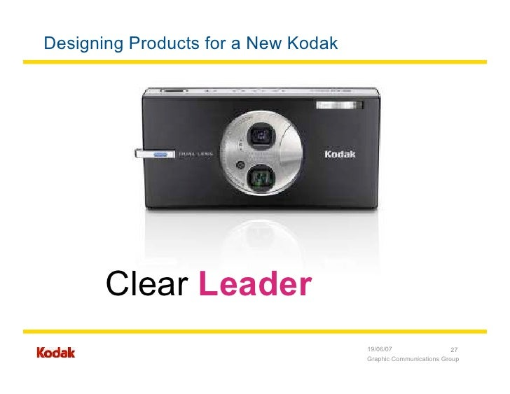 cost leadership kodak Strategic analysis, the camera industry olympus, kodak, canon, and other firms in the market for low-cost cameras have experienced significant changes in recent years the rate of introduction of new products has increased significantly.