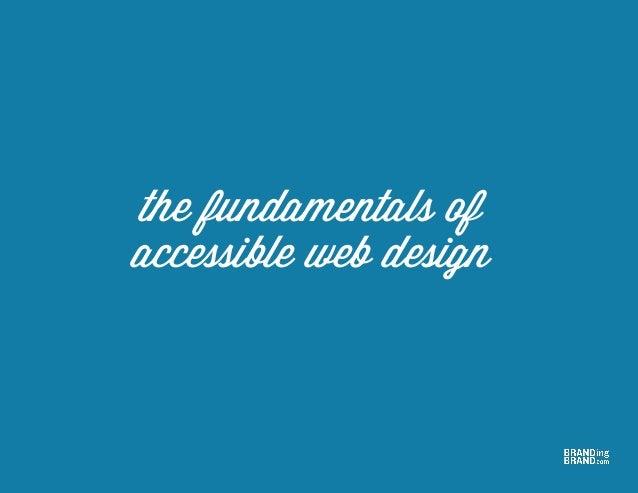 the fundamentals of accessible web design