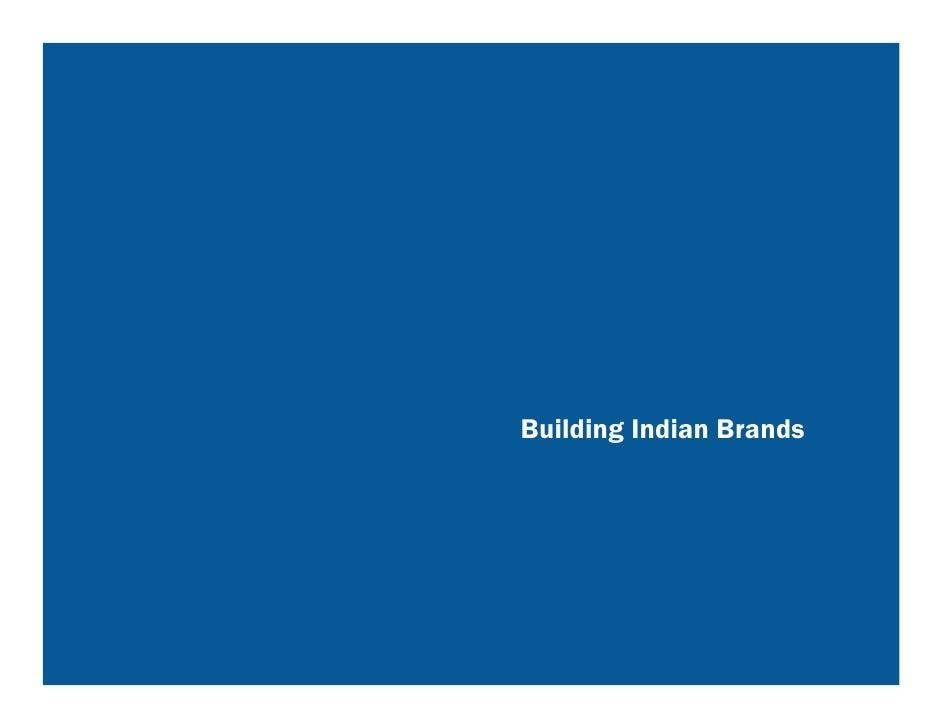 Building Indian Brands
