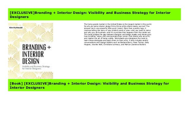 Exclusive Branding Interior Design Visibility And Business Strate