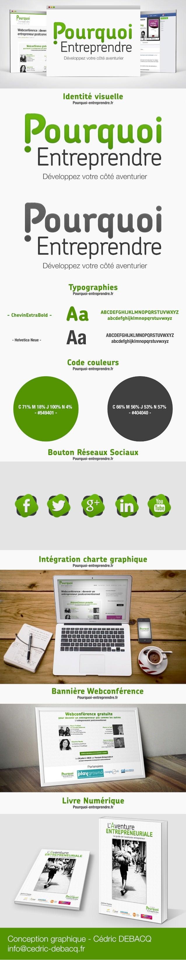 """""""Branding"""" Identité visuelle du webzine pourquoi-entreprendre.fr"""