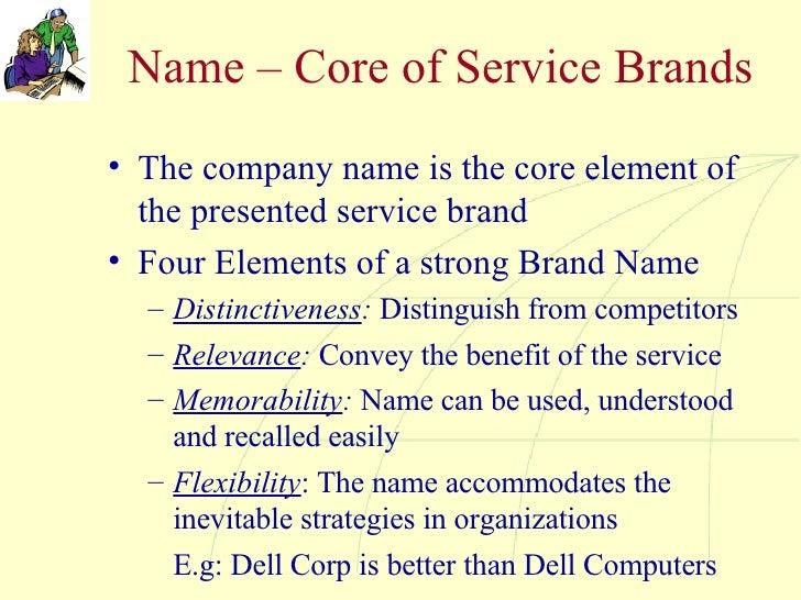 Name – Core of Service Brands <ul><li>The company name is the core element of the presented service brand </li></ul><ul><l...