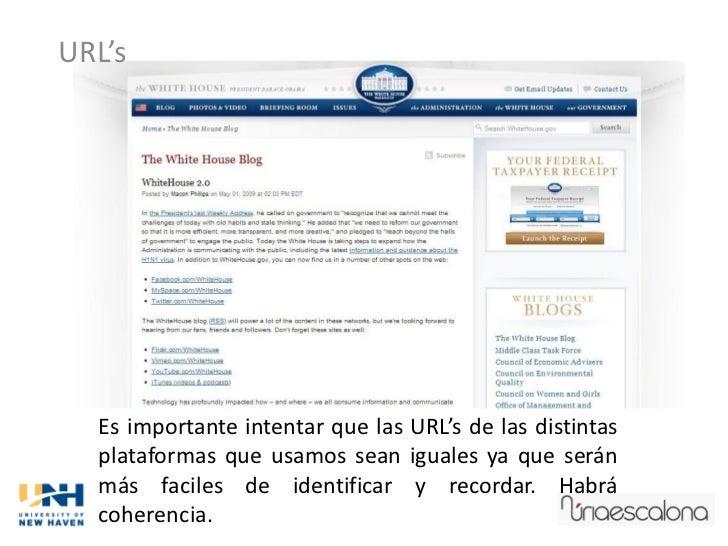 URL's  Es importante intentar que las URL's de las distintas  plataformas que usamos sean iguales ya que serán  más facile...