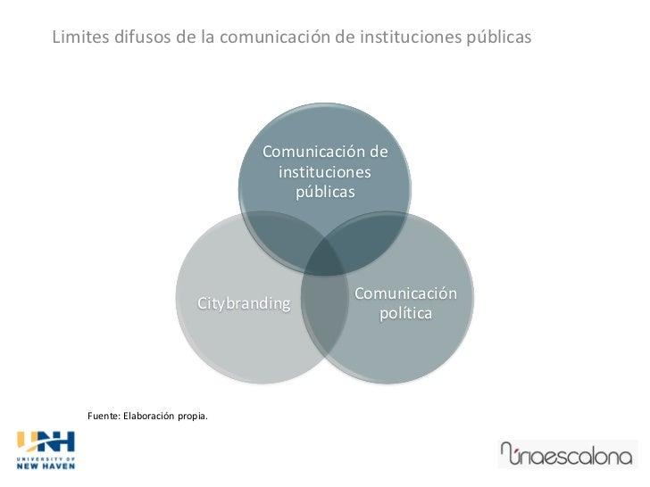 Limites difusos de la comunicación de instituciones públicas                                    Comunicación de           ...