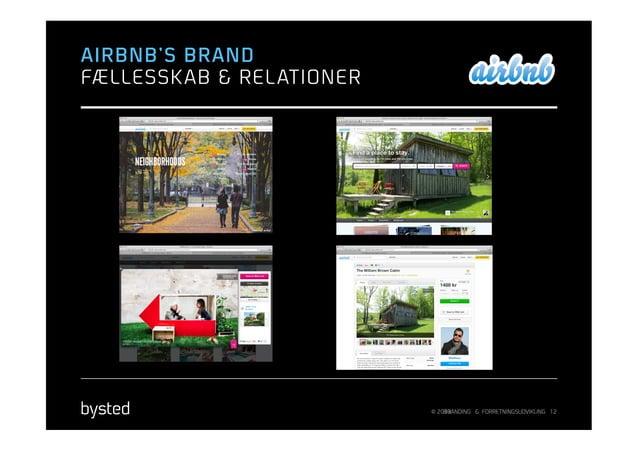 AIRBNB'S BRANDFÆLLESSK AB & REL ATIONER                            © 2013                                BRANDING & FORRET...