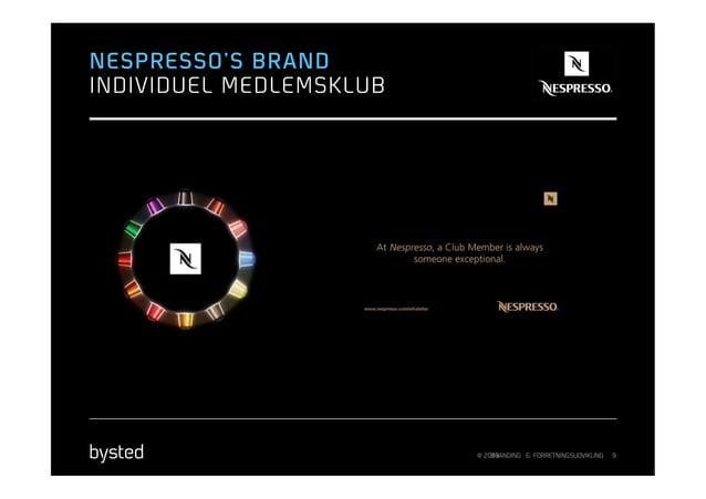 NESPRESSO'S BRANDINDIVIDUEL MEDLEMSKLUB                         © 2013                             BRANDING & FORRETNINGSU...