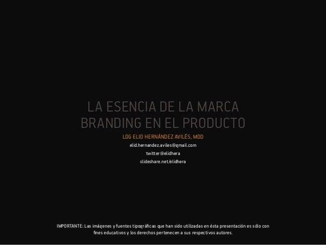 Branding en el producto