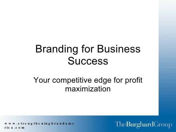 Branding For Success