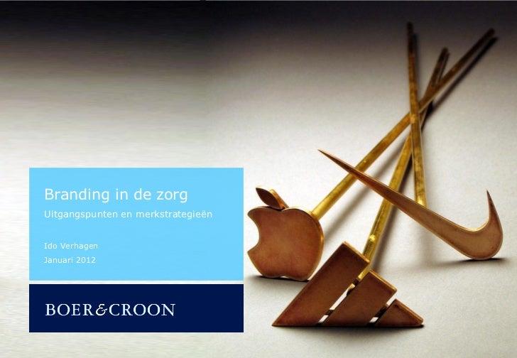 Branding in de zorgUitgangspunten en merkstrategieënIdo VerhagenJanuari 2012Dit rapport is bestemd voor de organisatie van...
