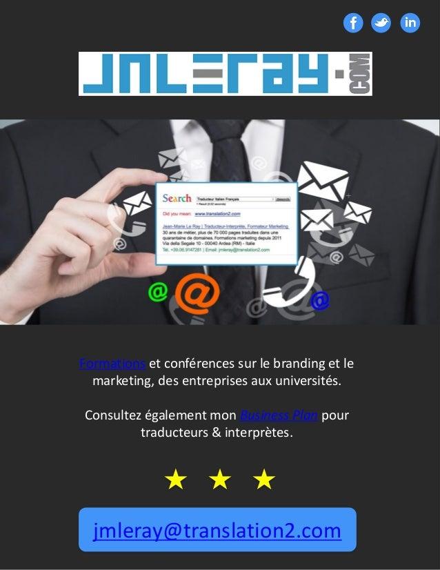 CONTACT Formations et conférences sur le branding et le marketing, des entreprises aux universités. Consultez également mo...