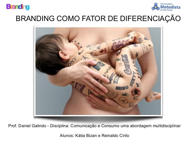 BRANDING COMO FATOR DE DIFERENCIAÇÃO Prof. Daniel Galindo - Disciplina: Comunicação e Consumo uma abordagem multidisciplin...