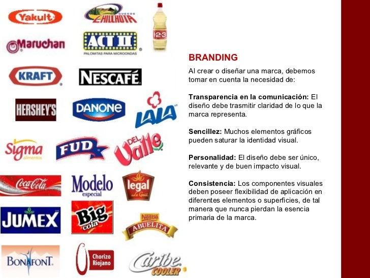 BRANDINGAl crear o diseñar una marca, debemostomar en cuenta la necesidad de:Transparencia en la comunicación: Eldiseño de...