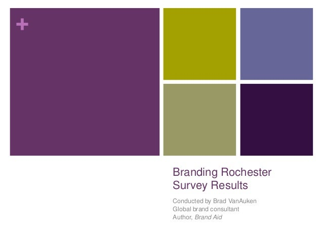 +    Branding Rochester    Survey Results    Conducted by Brad VanAuken    Global brand consultant    Author, Brand Aid